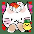 Sushi headdress Nina cat