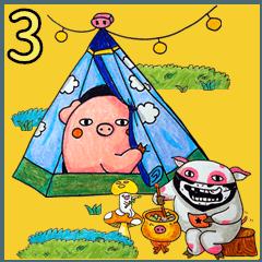 Travel pig 3 partner set feat.Pigirl
