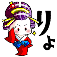 """Japanese Oiran stickers """"All Sisters""""6."""