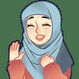 Expressive Hijab Girl