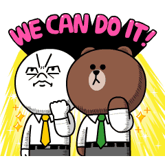 BROWN&FRIENDS Workplace Stickers – LINE stickers | LINE STORE