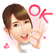 Yui Hatano Official Sticker!!!!
