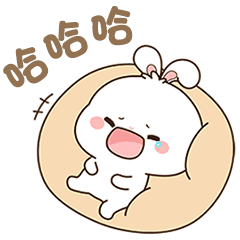 The daily mood of cute rabbit 2