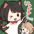 dog&cat(catgirl side)