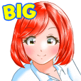 Chatter Girl <BIG Stickers>