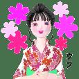 3D! Yoshiko wearing a yukata Version 4