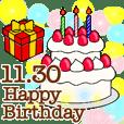 11月1日〜30日のお誕生日祝い BIGスタンプ