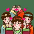 Three fairy maidens