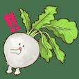 野菜室のお友達【非常に健康的なスタンプ】