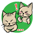 Lovely and funny  cats Sticker