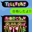 黒ふきだし×ネオンアートde日常会話1