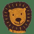 Big head lion and coffee bear