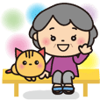 Grandma's happy Big sticker [Japanese]