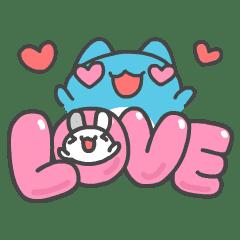 貓貓蟲-咖波 兔兔戀愛中