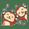 Saruru's spring sticker