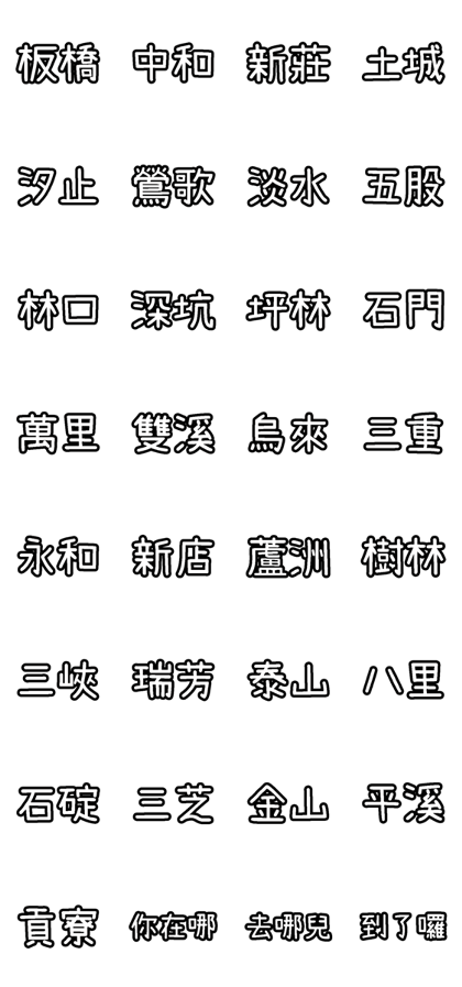 The Districts of New Taipei City