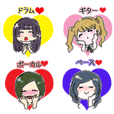 real bandgal sticker