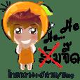 Cartoon kid fruit language Thai/eng