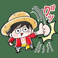 MOGUが描くゆる〜いONE PIECEスタンプ