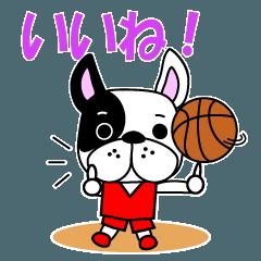 Basketball dog red uniform version