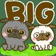 黒パグちゃん♡BIGスタンプ