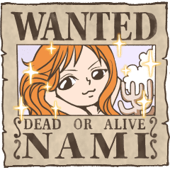ONE PIECE: WANTED NAMI Animated Stickers