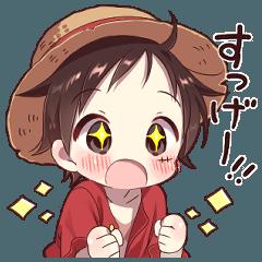 hashimokikuri's ONE PIECE Luffy sticker