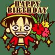 【動く】ONE PIECE 誕生日をお祝い!