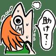ONE PIECEナミ魚人(ルフィ画ナミの似顔絵)