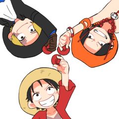 ONE PIECE Happy Brothers STAMP