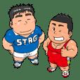 ガチムチ体育会系の青田先輩と後輩赤雄君