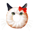 Donut Cat Chick