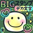 BIGスタンプ♡カラフルネオン♪デカ文字