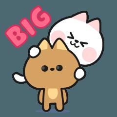 Couple Cat Big Sticker