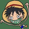 GReeeeN の ONE PIECEスタンプ!!!!