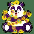 Funny Purple Babie-Panda