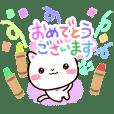 シロネコすたんぷ【クレヨン】