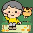 Grandma's happy Big sticker [Chinese]