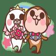 fugi and samei -monkey and dog