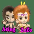 3d阿丁(Ating)と柔柔(ZoZo)