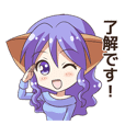 The Sticker of the Girl of a cat ear2