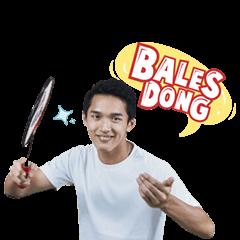 สติ๊กเกอร์ไลน์ Jojo si Jagoan Badminton