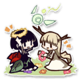 Rose and Mion Stickers