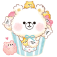 Popcorn Bear friends