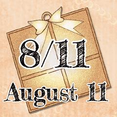 8月11日記念日BIGスタンプ