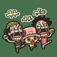 動く!ONE PIECEスタンプ☆