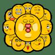 丸顔の表情スタンプ (太っちょver.)