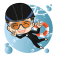 Swimming Home Sticker