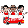 The Awesome Arsenal FC Sticker Pack!