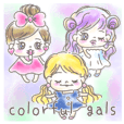 colorful gals-fulffy-
